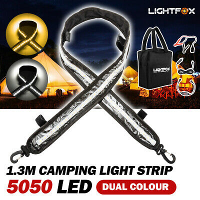 LED Flexible Camping Strip Light 5050 SMD Boat Waterproof 12V 1.2m 2 Colours