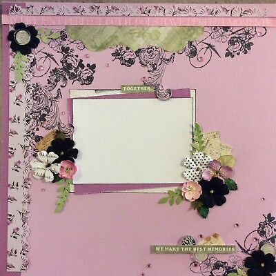 handmade scrapbook page 12 X 12 Together We Make The Best Memories Layout