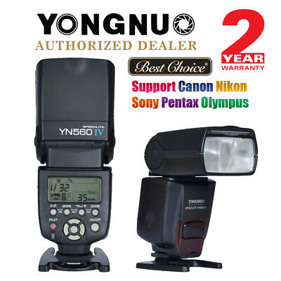 YONGNUO YN-560 IV Wireless Trigger Speedlite Flash Light for Canon Nikon US