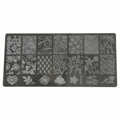 Nail Art Stamp Image Plates Stamping Manicure Insole Template Tool DIY T3B4