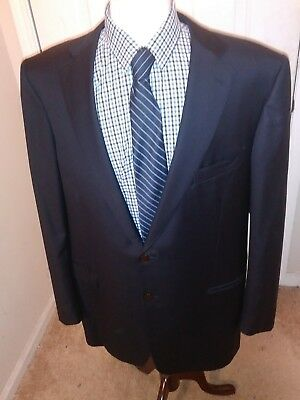 Ermenegildo zegna recent black label sports jacket 48 long dual vent metal btn