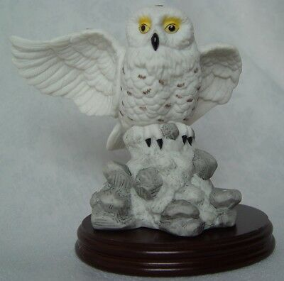 Regency Snowy Owl by Maria Goretti with Certificate and Wood Base