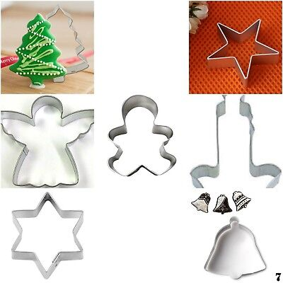 Aus Seller - CHRISTMAS COOKIE CUTTERS..gingerbread/angel/tree/star/bell/candle