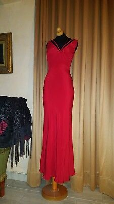 Authentic VALENTINO RED LONG  COCKTAIL PARTY RED CARPET DRESS GOWN SZ 42,8