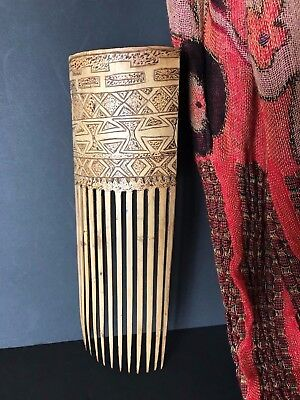 Old West Papua New Guinea Carved Bamboo Comb (a) …beautiful collection item