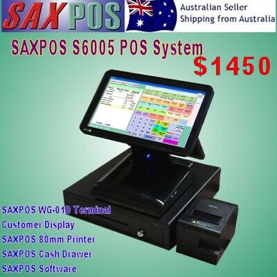 SAXPOS S6001 NEW Touch Screen Point of Sale (POS) System with Customer Display