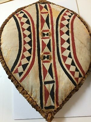 African Painted Tribal Warrior Battle Shield