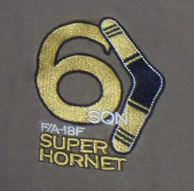 RAAF F/A18 Super Hornet T-Shirt with EMBROIDERED Logo - Genuine RAAF Used Shirt!