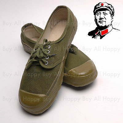 1960's Chinese Army PLA Type 65 Vintage Liberation Shoes All Size Schuhe sneaker