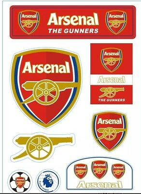 ARSENAL FC Stickers Set A4 Size Great For Car/Window /Home Use