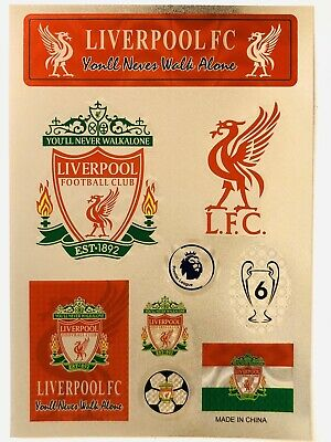 Liverpool FC Stickers Set A4 Size Great For Car/Window /Home Use