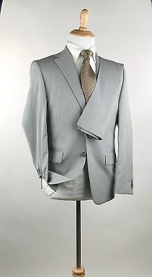 Stunning* Joseph Abboud Collection 2 Btn Gray Sharkskin Wool Suit 38S 30W USA