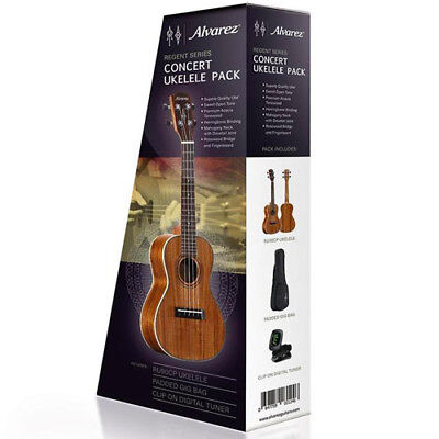 Alvarez Concert Ukulele Pack with Bag & Tuner