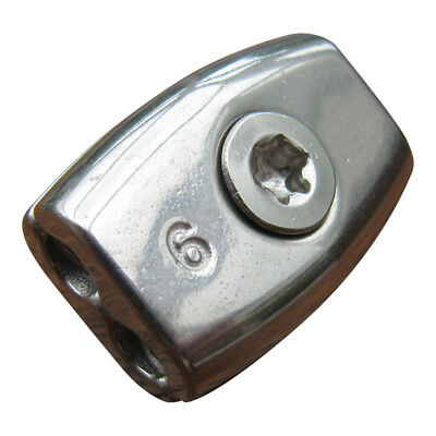 Wire Rop End Clamp, Stainless Steel Egg Shaped Body: Freepost