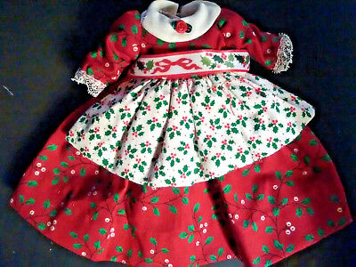 "Madame Alexander 8"" Doll Red Floral Print Formal Dress"