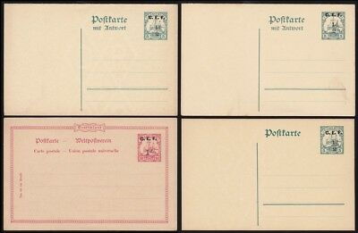 CAMEROON - BRITISH OCCUPATION 1915 CEF  Yacht Postcards / Double rely cards