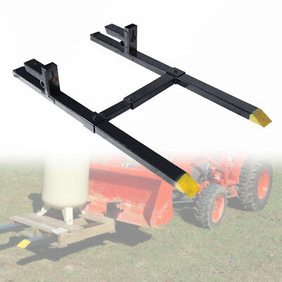 """Pro 30"""" 1500lbs capacity Clamp on Pallet Forks w/Stabilizer Bar Tractor chain"""