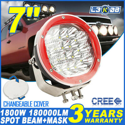 7inch 1800W CREE LED Work Light Driving Headlight Spot Lamp Offroad UTE Pickup