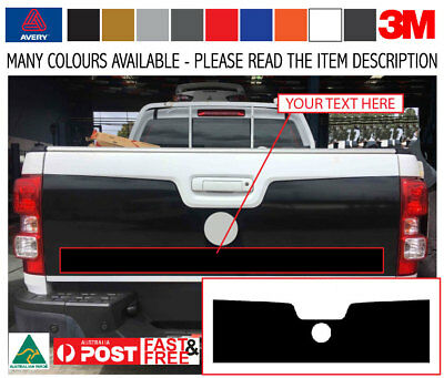 Holden 2015 2017 Colorado ESM Colorado Tailgate Decal Kit - Avery Wrap Vinyl