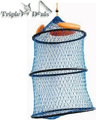 New Seahorse Collapsible Floating Poly Creel with Draw Cord Closure - Keeper Net