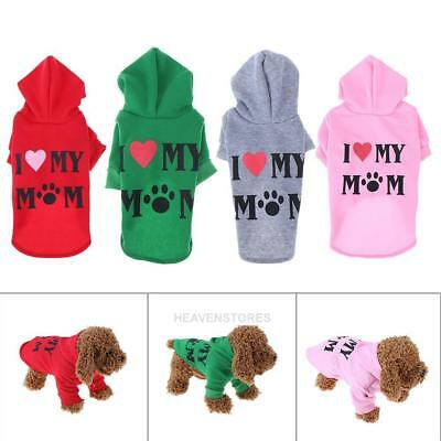 Winter Alphabet Pet Dog Clothes I lOVE MAMA Costume Puppy Cute Top Hoodie Coat