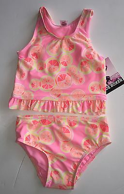 Joe Boxer Infant Girl's  Pink Peach Tankini Swimsuit Top & Bottoms 12 months NWT