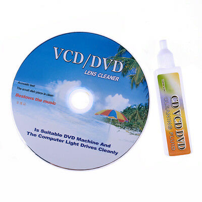 DVD VCD CD-Rom Lens Cleaner Clean Disc Kit Rom Player Cleaning TV Game Wet &Dry