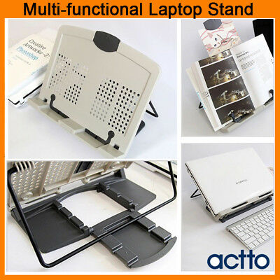 Actto Portable Book Stand Reading Document Desk Holder Adjustment Bookstand