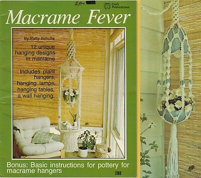 "Vintage 1977 Macrame Pattern Book ""macrame Fever"" 12 Projects & 24 Pages"