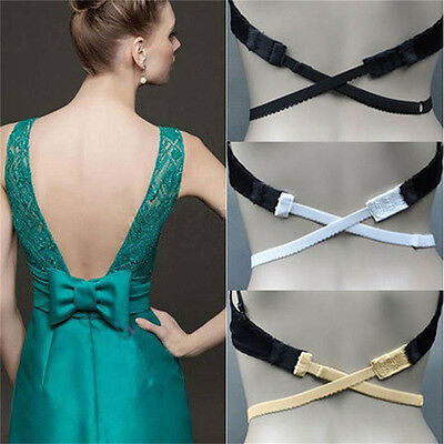 Low Back Backless Bra Strap Adapter Converter Fully Adjustable Extender Hook