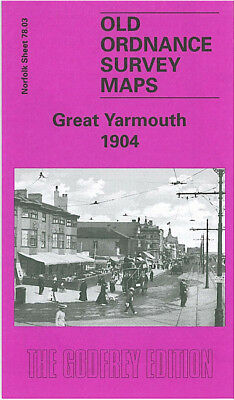 Old Ordnance Survey Map Great Yarmouth 1904 Southtown King Street Winter Gardens