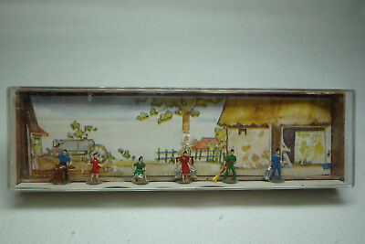 Vintage Merten Figuren Box - Spur N - Landarbeiter - Box 896 (1.Fig-44)