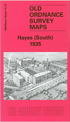 Old Ordnance Survey Map Hayes South 1935 Grand Junction Canal Emi Nestle