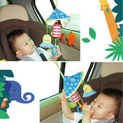 1x Baby Rattles Plush Animal Stroller Hanging Bell Play Toy Doll Soft Bed Rattle
