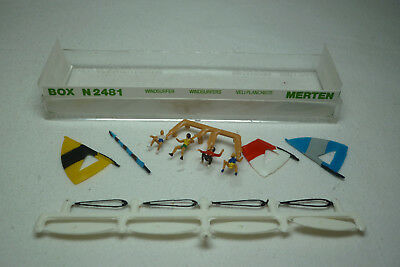 Vintage Merten Figuren Box - Spur N - Windsurfer - Box 2481 (1.fig-49)