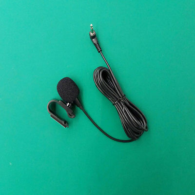 3.5mm External Microphone for Car DVD cable 3 mt with U-shaped mounting clip