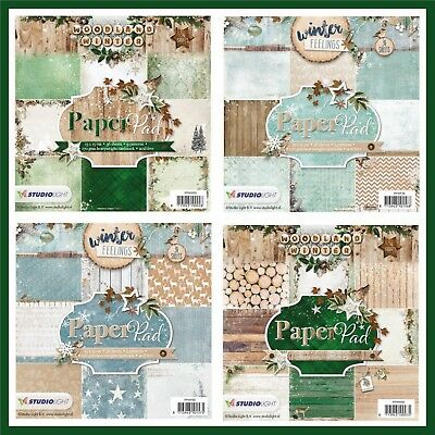 Weihnachten Bastelpapier Paper Pad / Winter Feelings & Woodland Winter  36 Blatt
