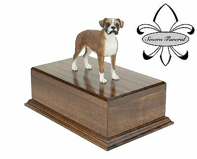 Luxury Solid Wood Oak Mahogany, pet, dog, ashes, memorial, Boxer