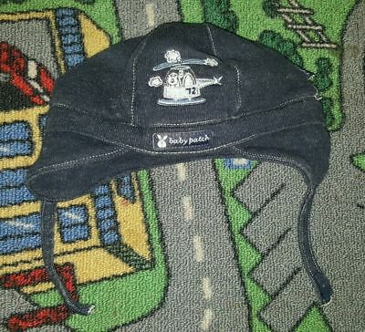 BABY BOYS Sz 0 Blue PUMPKIN PATCH Beenie CUTE! COOL! CHIN STRAP! HELICOPTER!