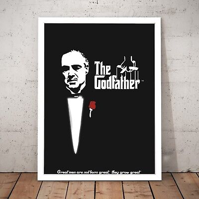 The Godfather Film Classic Movie Art Poster Print - A4 to A0 Framed