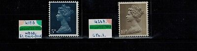 ERROR MISTAKE UNCOATED 5d & 10d DEFINITIVE MACHIN  STAMP SG CAT 735d & 741a