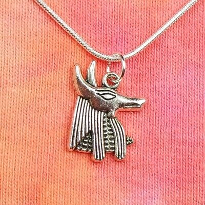 Anubis Necklace, Egypt Egyptian Dog Wolf Jackal Charm Pendant in Gift Box Greek