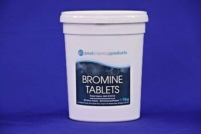 1kg of Bromine Tablets - Swimming Pools, Spas, Hot Tubs Chemicals
