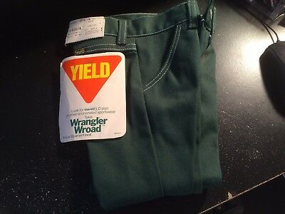 NWT Nice Vintage Wrangler Wroad Baby Boys Toddler Size 3 Reg  Jeans Pants Green