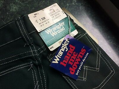 NWT Nice Vintage Wrangler Wroad Baby Boys Toddler Size 1 Slim  Jeans Pants Green