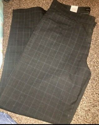 Next Men's Suit Trousers checkered 32s