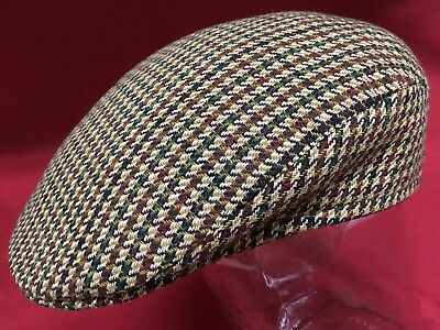 5058ffc74 VINTAGE BROOKS STETSON Tweed Wool Cabbie PaperboyCap Hat Made in England 7  5/8