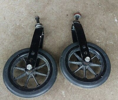Invacare 9000 SL wheelchair front wheels caster/tire/fork assembly replace parts