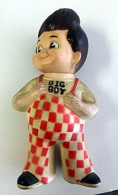 "Vintage 1973 Bobs BIG BOY Restaurant Vinyl Rubber 9"" Doll Bank Marriott Corp!"