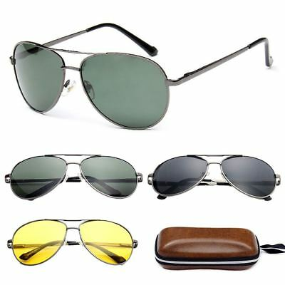 Classic Aviator Pilot Sunglasses Men's Retro Outdoor Sunglasses Glasses Eyewear